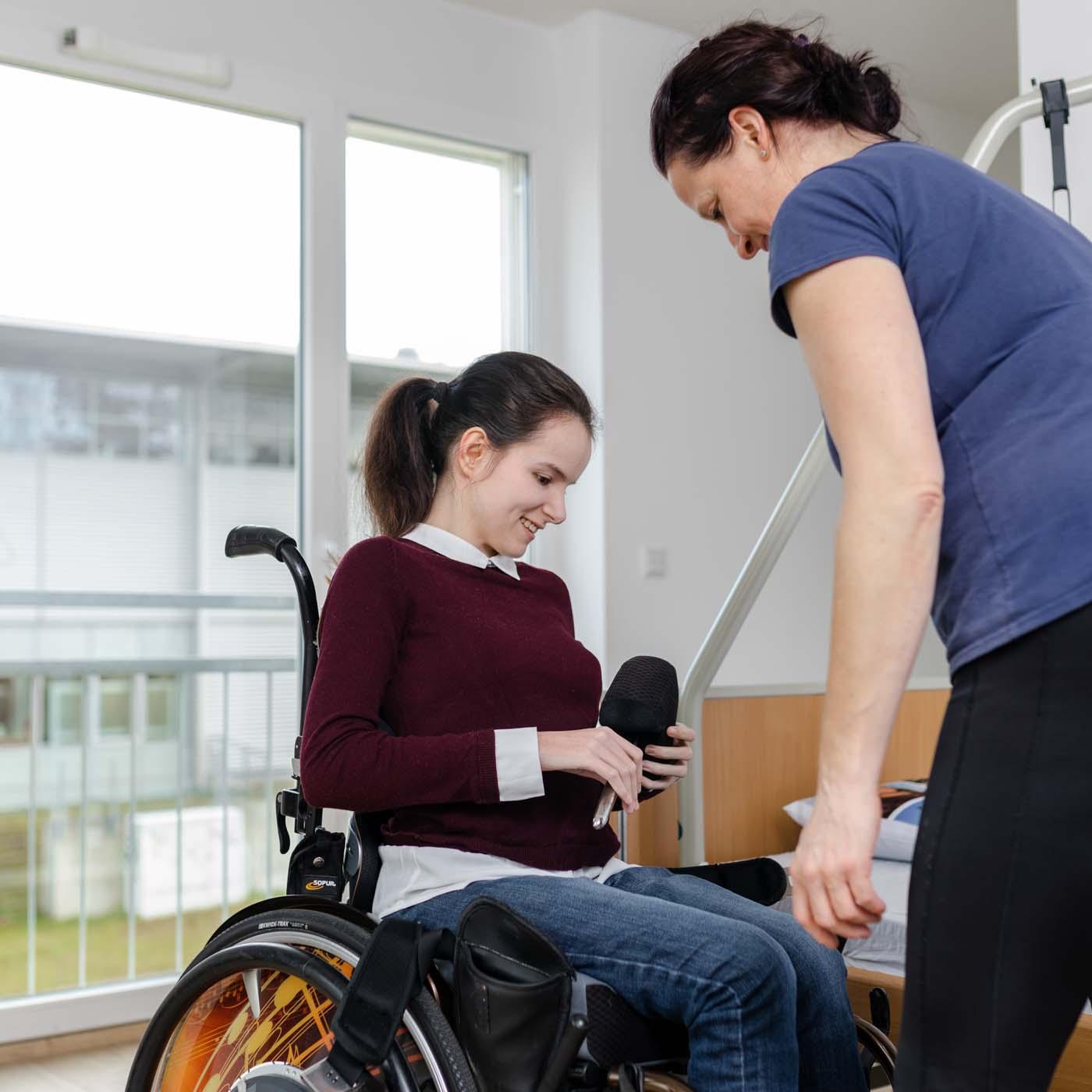 ambulanten Pflegebetreuung eines Patienten von ASKIR in Dresden