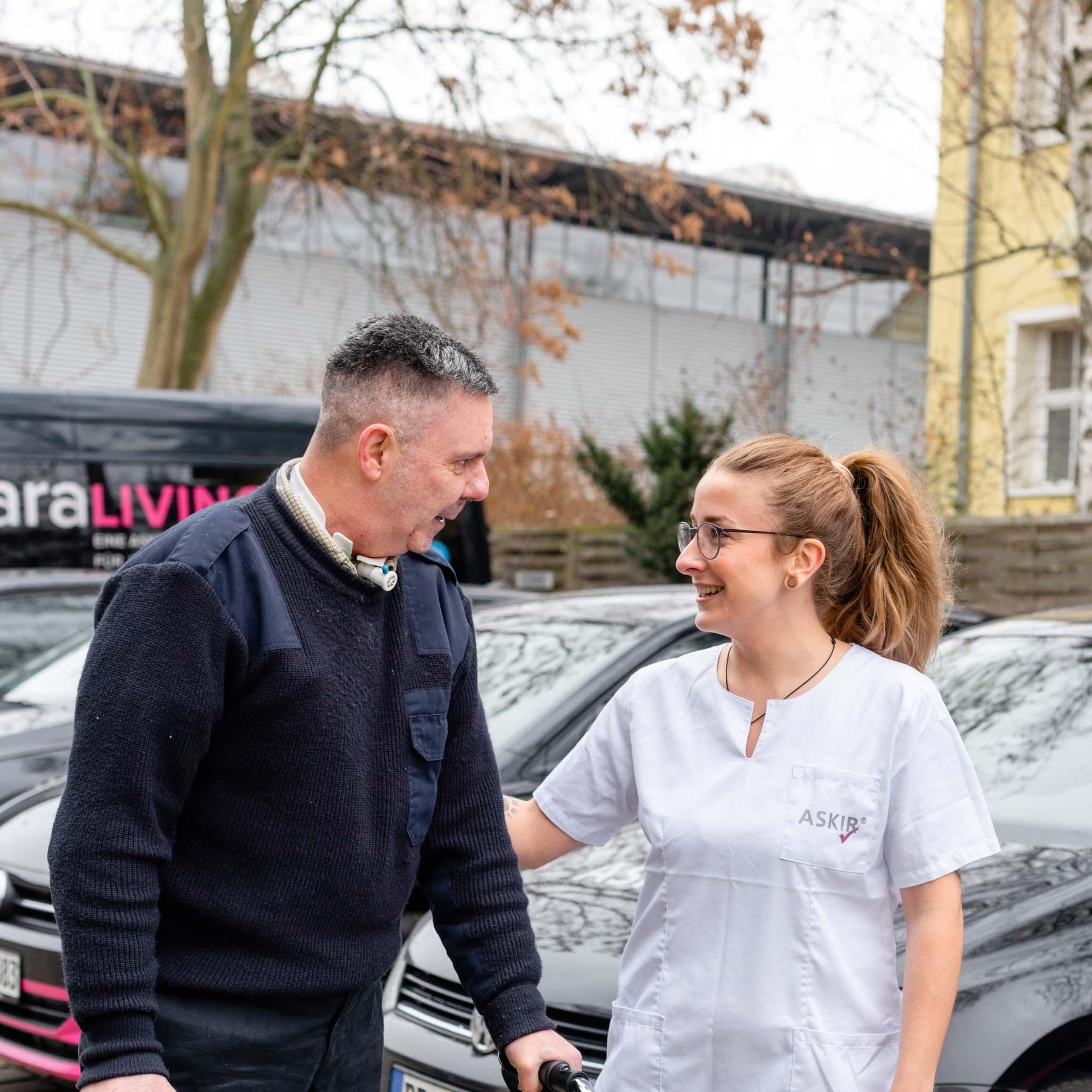 hauswirtschaftlicher Service bei Patient für betreutes Wohnen in Dresden, ASKIR — Pflegedienst Dresden